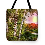 Country Birch Tote Bag