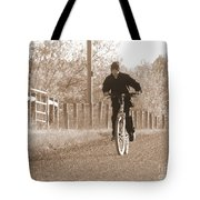 Country Boy And His Bike Tote Bag