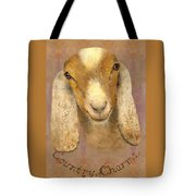 Country Charms Nubian Goat With Bright Eyes Tote Bag