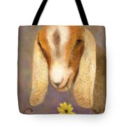 Country Charms Nubian Goat With Daisy Tote Bag