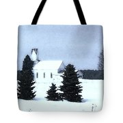 Country Church In Winter Tote Bag
