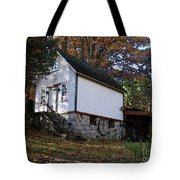 Country Cottage In Autumn Tote Bag