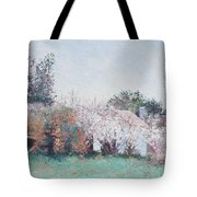 Country Cottage In Spring Time Tote Bag