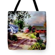 Country Covered Bridge 3 Tote Bag