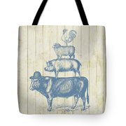 Country Farm Friends Tote Bag