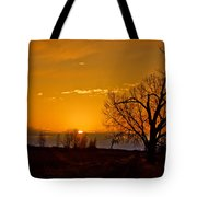 Country Golden Sunrise Tote Bag