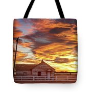 Country House Sunset Longmont Colorado Boulder County Tote Bag