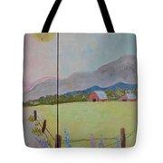 Country Landscape On Barnwood Tote Bag