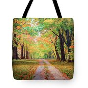 Country Lane - A Walk In Autumn Tote Bag