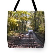 Country Lane In Autumn 2 Tote Bag