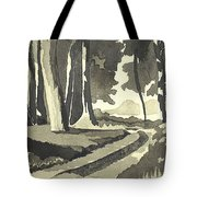 Country Lane In Evening Shadow Tote Bag