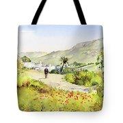 Country Lane In Spring Tote Bag