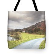 Country Lane In The Lakes Tote Bag