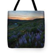 Country Meadow Sunset Tote Bag