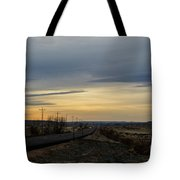 Country Morning School Bus Tote Bag