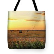 Country Pasture At Sunset Tote Bag
