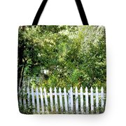 Country Picket Fence Tote Bag