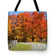 Country Road Autumn Tote Bag