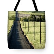 Country Road, Wheat Fields Tote Bag