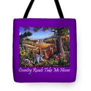 Country Roads Take Me Home T Shirt - Coon Gap Holler - Appalachian Country Landscape 2 Tote Bag