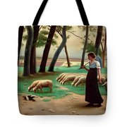 Country Shepherdess  Tote Bag