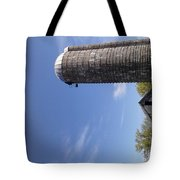 View Of An Old Barn And Silo Tote Bag