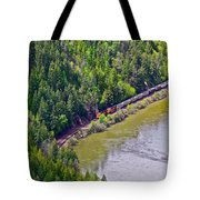 Country Train Tote Bag