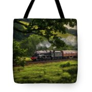Country Train Ride Tote Bag