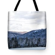 Country Winter Road Tote Bag