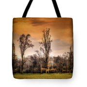 Countryscape With Bell Tower Tote Bag