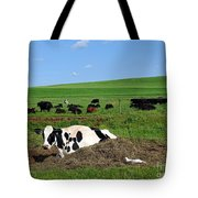 Countryside Cows Tote Bag