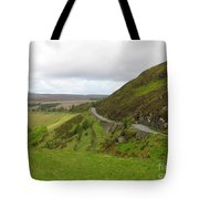 Countryside Road Bends Around Hill Tote Bag