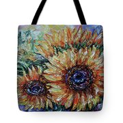 Countryside Sunflowers Tote Bag