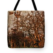 Countryside Windmill Tote Bag