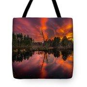 County Farm Sunset Tote Bag