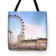 County Hall And London Eye Tote Bag