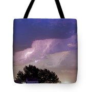 County Line Northern Colorado Lightning Storm Cropped Tote Bag