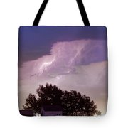 County Line Northern Colorado Lightning Storm Panorama Tote Bag
