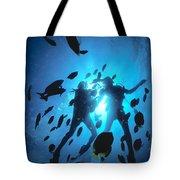 Couple And Fish Tote Bag