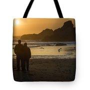 Couple At Harris Beach 0197 Tote Bag