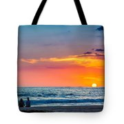 Couple At Sunset Tote Bag