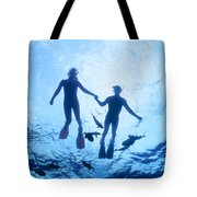 Couple At The Surface Tote Bag
