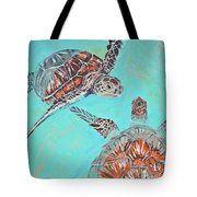 Couple Breathing Tote Bag