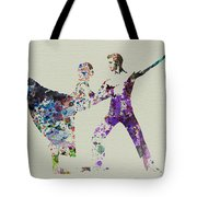 Couple Dancing Ballet Tote Bag by Naxart Studio