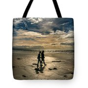 Couple In Golden Beach Tote Bag
