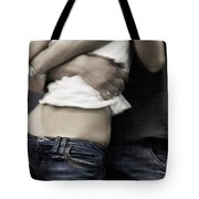 Couple In Jeans Tote Bag