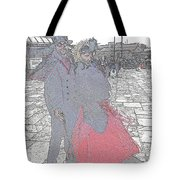 Couple In Red Tote Bag