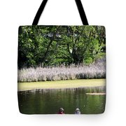 Couple In Row Boat Tote Bag