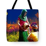 Couple Moon And Water Tote Bag