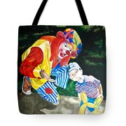 Couple Of Clowns Tote Bag